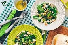 Gust Verde: Salata fresh cu naut si tofu afumat. Healthy Recipes, Healthy Meals, Tofu, Pasta Salad, Avocado, Fresh, Ethnic Recipes, Salads, Clean Eating