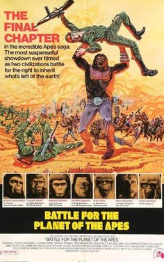 Battle for the Planet of the Apes posters for sale online. Buy Battle for the Planet of the Apes movie posters from Movie Poster Shop. We're your movie poster source for new releases and vintage movie posters. Classic Movie Posters, Movie Poster Art, Classic Films, Sci Fi Movies, Hd Movies, Movies Online, Fiction Movies, Fantasy Movies, Movie Tv