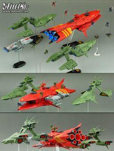1/1700 Fleetmo Scratchbuild Series: UC.0080 Zeon Fleet: Photoreview Wallpaper Size Images [WIP too] http://www.gunjap.net/site/?p=197254