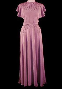 1930er-Kleid mit Perlen verziert Spiderweb 868