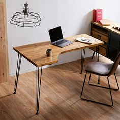 Small Space Interior Design, Home Office Design, Interior Design Living Room, Diy Office Desk, Pc Desk, Desk Inspiration, Furniture Inspiration, Bar Set Furniture, Furniture Design