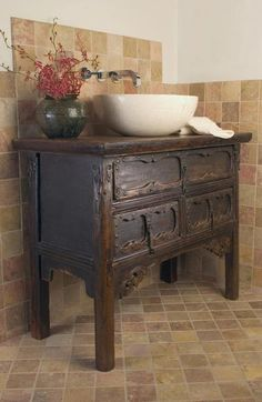 turning a dresser into a bathroom vanity - Google Search