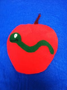 Little worm playing hide and seek. Are you under the __name OR color of fruit___  Let's take a peek! (Link has free pattern)