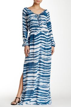 BETRO SIMONE | Split Neck Long Sleeve Maxi Dress | Nordstrom Rack