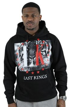 Last Kings by Tyga Tiger Print Men's Hoodie Sweatshirt