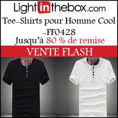 #missbonreduction; Vente Flash : jusqu'à 80 % de remise sur les Tee-Shirts pour Homme Cool -FF0428 chez Light in the box. http://www.miss-bon-reduction.fr//details-bon-reduction-Light-in-the-box-i852558-c1830594.html