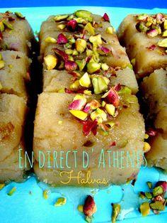 Halvas au tahin et pistaches - χαλβάς με ταχίνι και φυστίκια