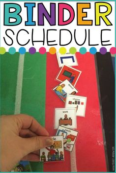 Visual schedules are what it's all about in Special Education. This portable binder schedule is perfect to build student independence in your classroom.