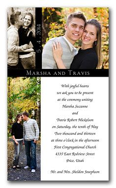 wedding invitations with pictures of couple   Different Ideas To Designing Photo Wedding Invitations