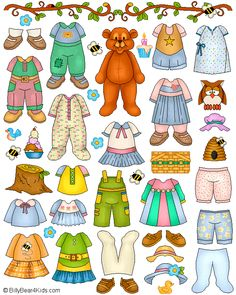 Friendly Teddy Bear Magnet PlayTime PaperDolls