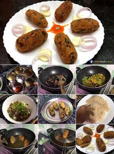 Crispy Crunchy Rice Vegetable Cutlet | Pakoda recipe step by step pictures