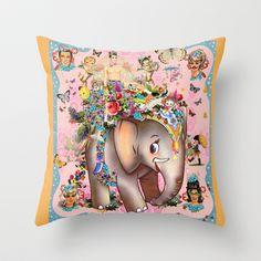 Wedding Elephant Throw Pillow