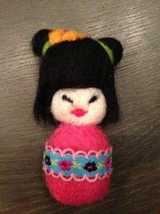 Stap-voor-stap geisha in #naaldvilt