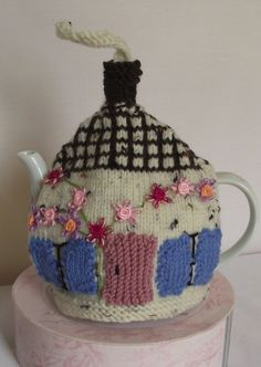 country cottage/ house  theme Hand Knitted  Tea Cozy by bythemill, $17.00