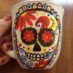Sharpie oil markers #sharpie #mug #sugarskull