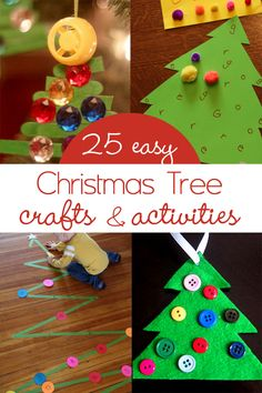 25 Easy Christmas Tree Crafts & Activities
