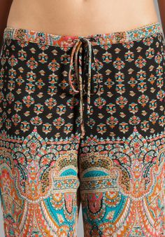 EIGHT SIXTY Pants in Turkish Paisley - Eight Sixty