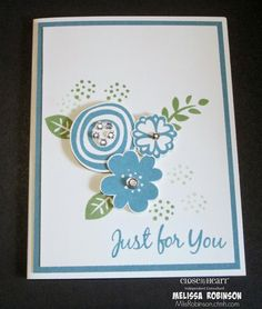 Heartfelt Sentiments: Just For You Card Using the Stamp of the Month