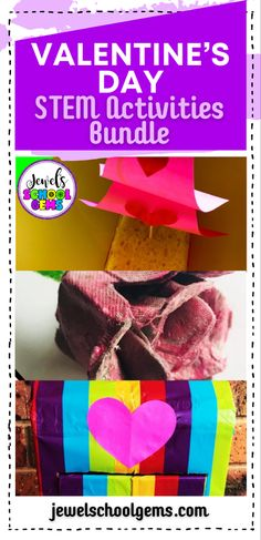 Valentine's STEM Activities and Challenges for Kids by Jewel's School Gems| Looking for ideas for easy Valentine's Day STEM projects? Try these Valentine's STEM challenges! Your students will not only participate in engineering activities that will require the use of problem solving and communication skills, they will learn about collaboration and creativity as well. CLICK TO LEARN MORE! #jewelschoolgems