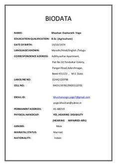 bio data sample for job the 25 best biodata format ideas on marriage 771 Resume Format For Freshers, Invoice Format, Sample Resume Format, Resume Format Free Download, Biodata Format Download, Bio Data For Marriage, Marriage Advice, Marriage Images, Marriage Biodata Format
