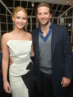 Costars Jennifer Lawrence and Bradley Cooper reunite at the special Silver Linings Playbook soiree at the Chateau Marmont, sponsored by Vanity Fair and Barneys New York Bradley Cooper, Oscar 2013, Silver Linings, Jennifer Lawrence Pics, American Hustle, Influential People, Best Actress, Beautiful Couple, Celebrity Gossip