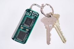 Circuit Board Key Chain - Geek Tech