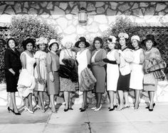 Group portrait of members of the Sigma Rho Charity Club, circa 1950s. Photographer: Harry H. Adams. African American Historical Society and Cultural Center of the San Fernando Valley. San Fernando Valley History Digital Library.