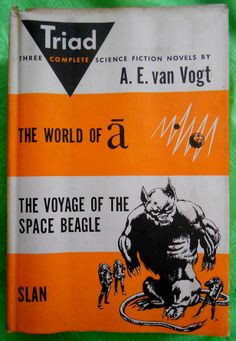 """1951 """"Triad"""", 3 complete science fiction novels, by A. E. van Vogt  $3.50... from The Blue Quotester @ https://www.etsy.com/listing/177700109/1951-tirad-by-a-e-vogt-3-science-fiction?"""