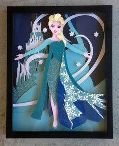 11 x 14 Frozen's Queen Elsa Let It Go by ThePaperPonyPlace on Etsy