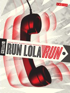 Run Lola Run, a.k.a. Lola Rennt (Tom Tykwer, 1998), poster by Lure Design: One of my most favorite films, and perfect for showing people (who claim to dislike foreign cinema) that there's a fabulous non-English filmworld out there.