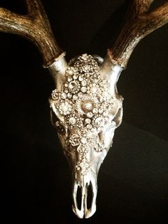 """""""Embellished deer skull…I'm not usually one for this kind of decor, but this is pretty awesome."""" OP"""