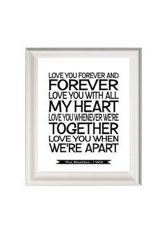 The Beatles lyrics-song lyrics print- Beatles I will- music art print-lyrics poster on Etsy, $18.46