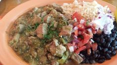 Chile Verde pork Peppers Mexicali Café 170 Forest Ave, Pacific Grove, CA 93950 (831) 373-6892 www.montereybayfood.com