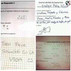 Personas que reprobaron su examen de una manera con mucho estilo y siendo cómicos ¿Ya viste el examen de Peña Nieto?