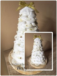 Christmas tree #handmade #cottonpads #christmas #christmasdecoration #decoration #christmastree