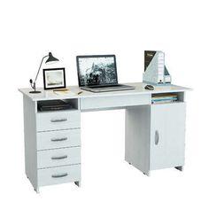 Стол письменный Милан-7Я - белый — основная большая