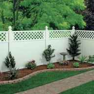 New Backyard Landscaping Ideas Against House 55 Ideas, … - Hof Backyard House, Backyard Gazebo, Backyard Privacy, Backyard Retreat, Cheap Privacy Fence, Privacy Fence Designs, Landscaping Backyard On A Budget, Fence Landscaping, Fence With Lattice Top