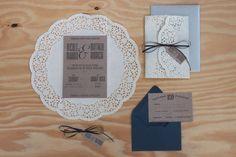 Vintage Lace Wedding Invitation, creative wedding design, navy blue wedding, romatic wedding invitations
