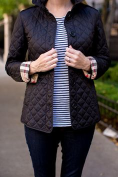 34f553021 Burberry Ashurst Quilted Jacket Black-34 Quilted Jacket Outfit, Burberry  Quilted Jacket, Burberry