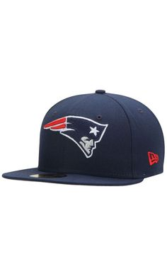 23c4c528bce51 NFL Men s New England Patriots New Era Navy State Clip 59FIFTY Fitted Hat - NFL  New