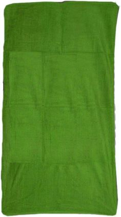 """Lime green 28""""x58"""" Beach towel - made of 100% terry velour.(8.5 lbs/doz) Our famous terry velour beach towels are available in three sizes, several weights and 6 colors to choose from. Great for custom embroidery, silkscreen and decal application. Minimum purchase: 1 case (36 pcs/case)."""
