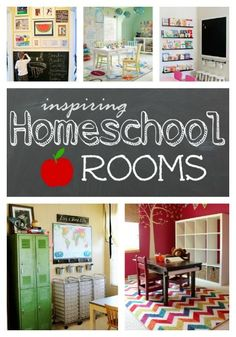 Inspiring homeschool rooms roundup - My Love for Words