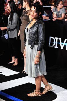 Lisa Bonet Gladiator Sandals - Lisa Bonet opted for a pair of distressed nude gladiator sandals to complete her look.