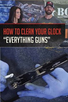 Want to know how to clean your Glock handguns? Our gun expert Amy Jane teaches you everything you need to know on the latest episode of Everything Guns. Glock Guns, Glock 9mm, Best Concealed Carry, Custom Glock, Cool Guns, Guns And Ammo, Survival Skills, Survival Tips, Airsoft