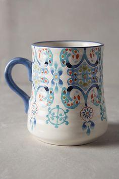 Anthropologie Swirled Symmetry Mug