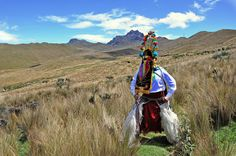 """""""Diablo Huma dance"""". On the Back, Rucu Pichincha Mountain. You´ll be surprised to know how close this place is from Quito"""