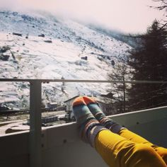 Donna Wilson woolly socks on our friend Khuê Tran in Switzerland! x