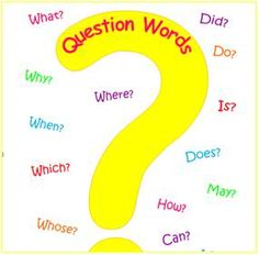 question mark bulletin board | ... always starts with a question word and ends with a question mark