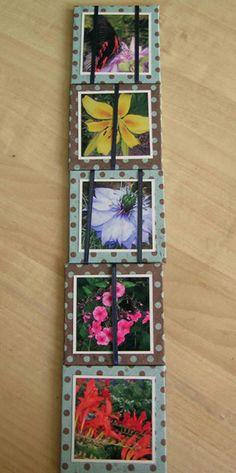 Jacob's Ladder Mini Scrapbook album.  DIY mini album making.  Easy to follow tutorial via http://www.making-mini-scrapbooks.com