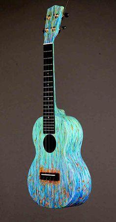 Gorgeous painted ukulele